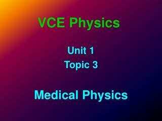 VCE Physics