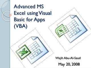 Advanced MS Excel using Visual Basic for Apps (VBA)
