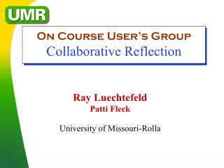 Ray Luechtefeld Patti Fleck University of Missouri-Rolla