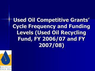 Oil Program Statute