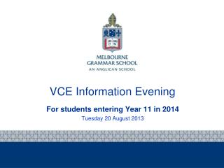 VCE Information Evening