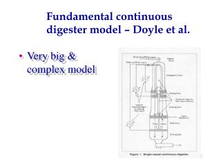 Fundamental continuous digester model – Doyle et al.