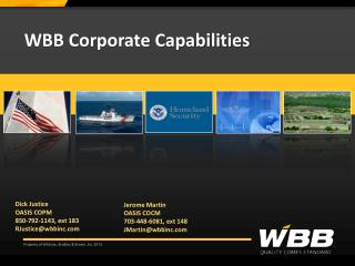 WBB Corporate Capabilities
