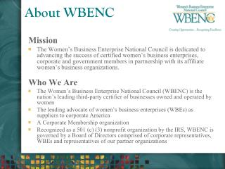 About WBENC