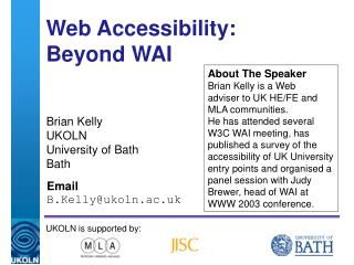 Web Accessibility: Beyond WAI