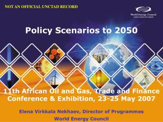 Policy Scenarios to 2050