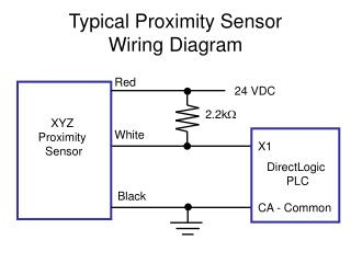 Typical Proximity Sensor  Wiring Diagram
