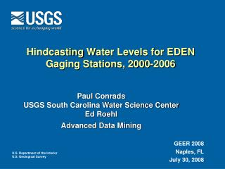 Hindcasting  Water Levels for EDEN Gaging Stations, 2000-2006