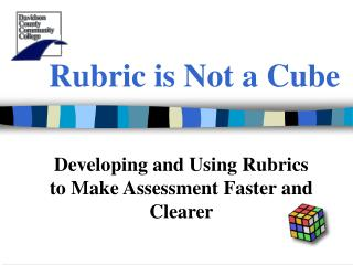 Rubric is Not a Cube