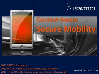 Context-Aware Secure Mobility