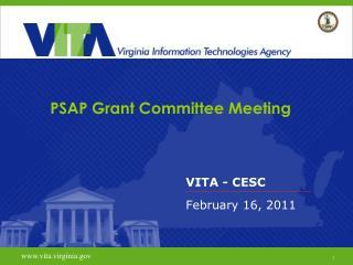 PSAP Grant Committee Meeting