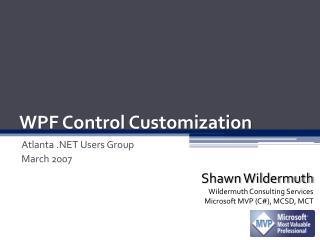 WPF Control Customization