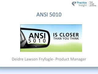 ANSI  5010