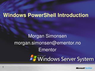 Windows PowerShell  Introduction