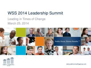 WSS 2014 Leadership Summit