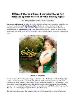 Billboard Charting Singer-Songwriter Margo Rey