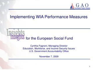 Implementing WIA Performance Measures