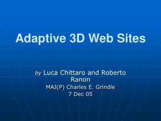 Adaptive 3D Web Sites