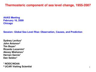 Thermosteric component of sea level change, 1955-2007