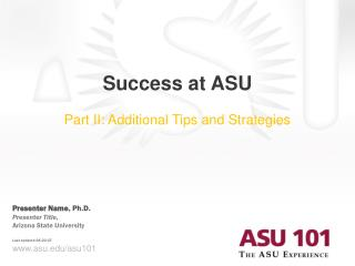 Success at ASU