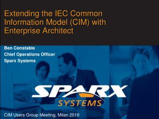 Extending the IEC Common Information Model (CIM) with Enterprise Architect