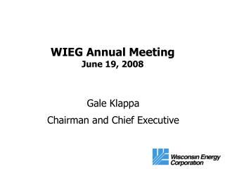 WIEG Annual Meeting June 19, 2008
