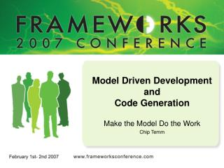Model Driven Development and  Code Generation