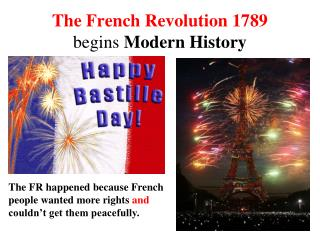 The French Revolution 1789 begins  Modern History