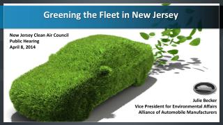 Julie Becker Vice  President for Environmental Affairs Alliance of Automobile Manufacturers