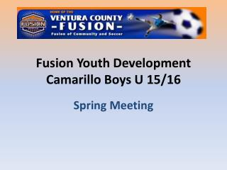 Fusion Youth Development Camarillo Boys U 15/16