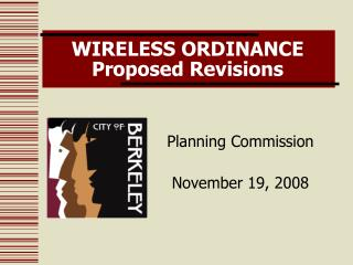 WIRELESS ORDINANCE  Proposed Revisions