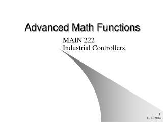 Advanced Math Functions