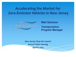 Accelerating the Market for  Zero-Emission Vehicles in New Jersey