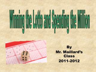 By  Mr. Maillard�s Class 2011-2012