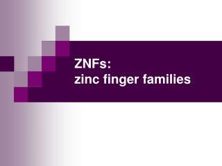 ZNFs: zinc finger families