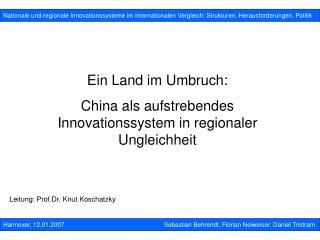 Nationale und regionale Innovationssysteme im internationalen Vergleich: Strukturen, Herausforderungen, Politik