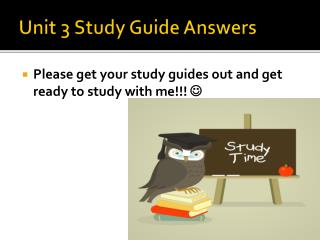 Unit 3 Study Guide Answers