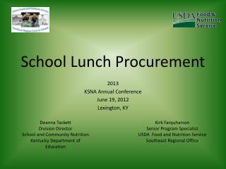 School Lunch Procurement