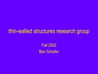 thin-walled structures research group