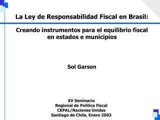 Creando instrumentos para el equilibrio fiscal en estados e municipios
