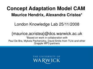Concept Adaptation Model CAM