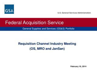 Requisition Channel Industry Meeting (OS, MRO and  JanSan )