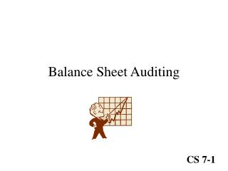 Balance Sheet Auditing