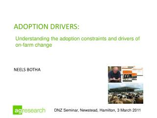 Adoption drivers: