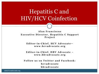 Hepatitis C and  HIV/HCV Coinfection