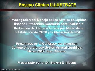 Ensayo Clinico ILLUSTRATE