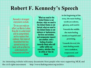 Robert F. Kennedy's Speech