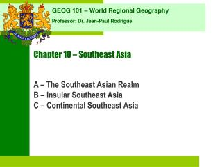 Chapter 10 � Southeast Asia