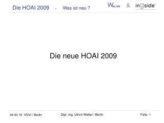 Die neue HOAI 2009