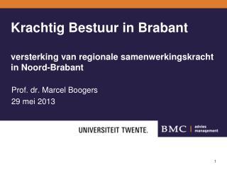 Krachtig Bestuur in Brabant versterking van regionale samenwerkingskracht in Noord-Brabant